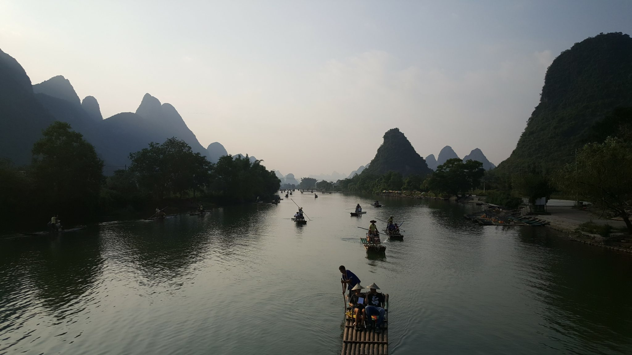 Guilin med tre generationer